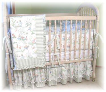 Nursery Rhyme Toile Crib Bedding Set Coastal Baby