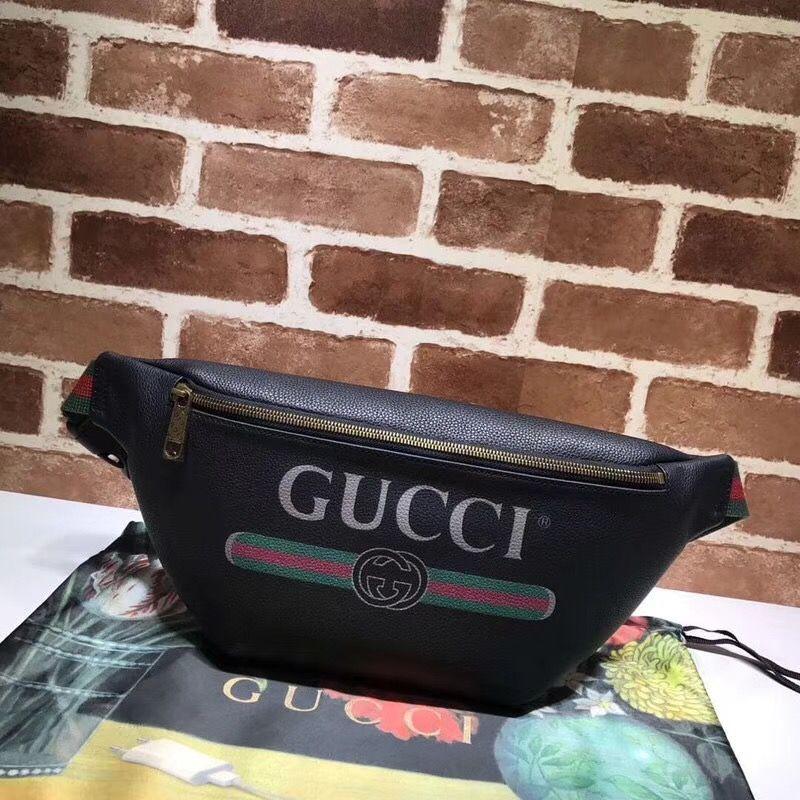 5818f712e71c79 Gucci unisex woman man waist chest pouch bag original leather version