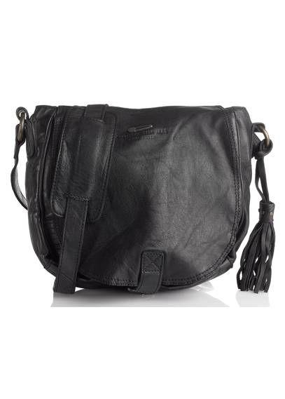 Besace cuir Noir IKKS - Style Rock - Style Chic - Sac à main femme ... 223e8ac20f7d