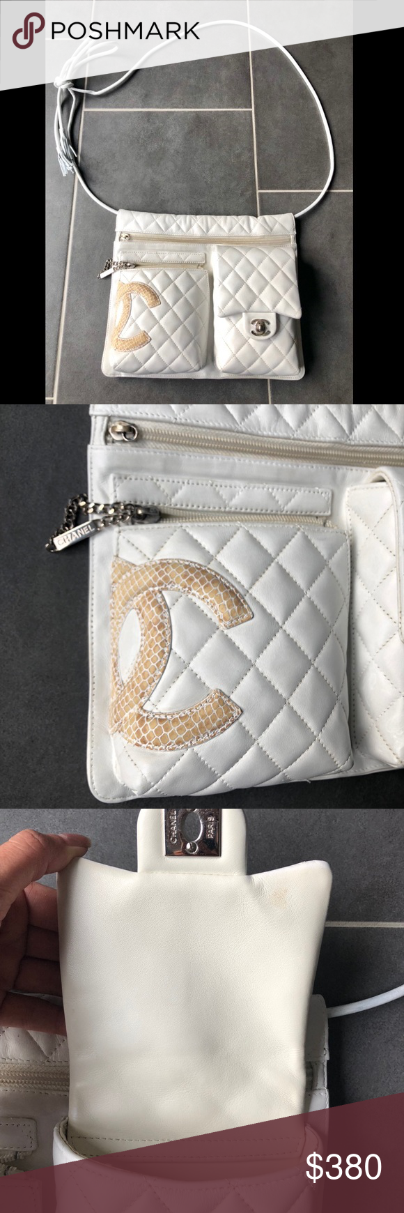 3bb43f738743cf Chanel Cambon Ligne Quilted shoulder crossbody bag Authentic Chanel Cambon  Ligne White Quilted shoulder bag Python
