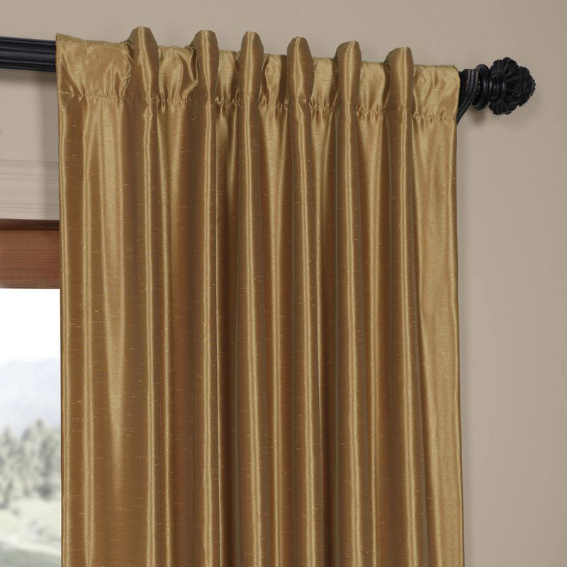 Sagunto Synthetic Room Darkening Thermal Rod Pocket Single Curtain