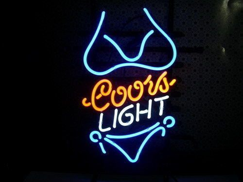 Coors light purple bikini neon sign neon lights and light quotes qisecaihong coors light purple bikini inches pure hand curved real glass neon light sign for beer bar pub club restaurant game rooms home shop display mozeypictures Choice Image