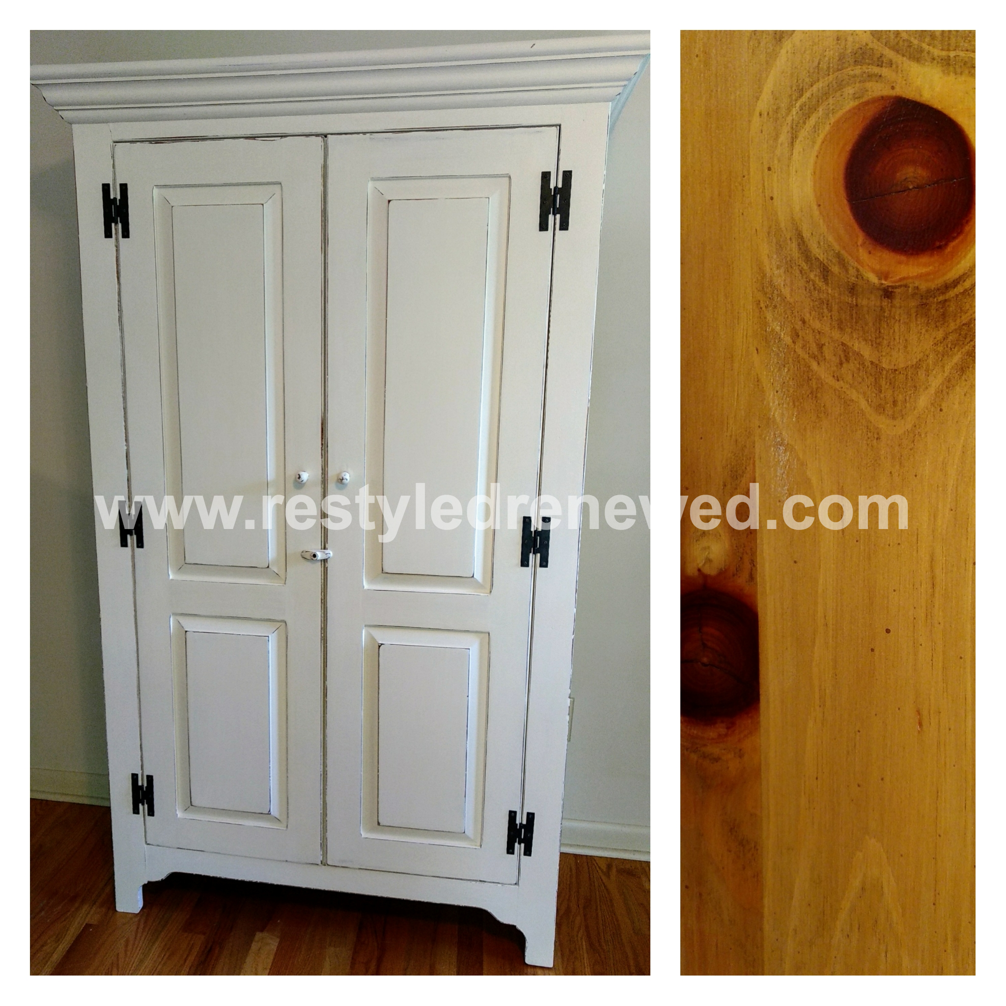 Awesome Armoire In Annie Sloan Chalk Paint Old White And Pure White Mix. How To Prep