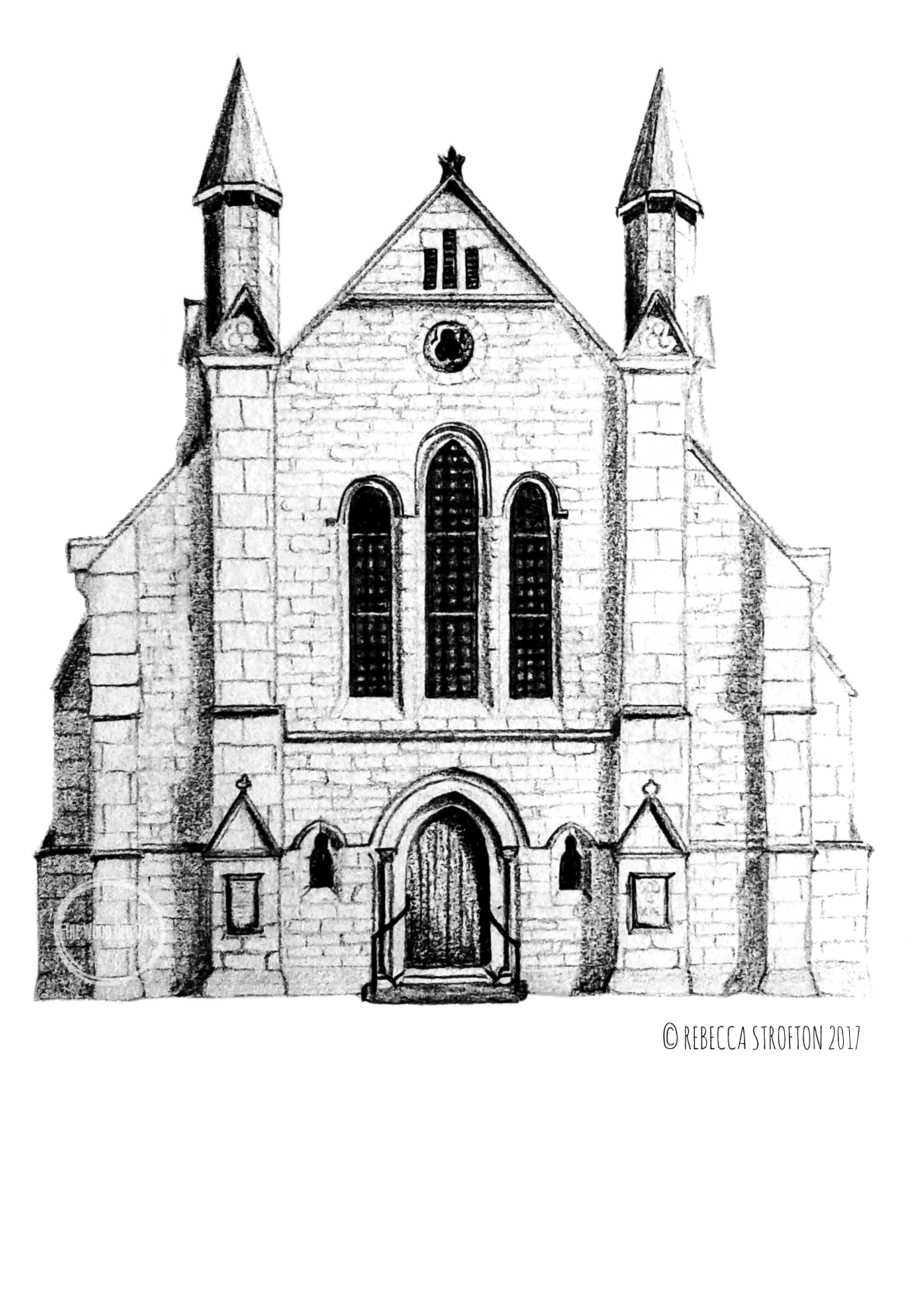 Unique pencil drawing of elgin baptist church elgin scotland drawings of other venues are available