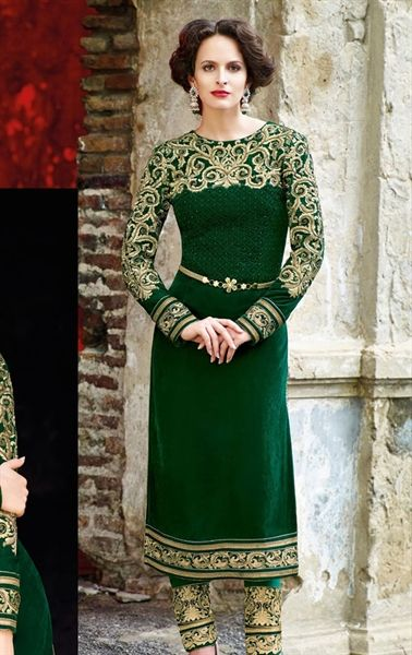 Picture of Admirable Bottle Green Color Designer Salwar Suit ...