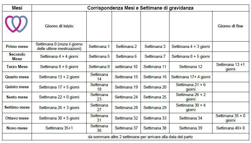 Calendario Delle Settimane Di Gravidanza.Pin Su Gravidanza
