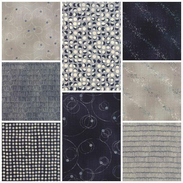 Fat Quarter Bundle - Nocturne - Janet Clare - Moda - Quilting ... : moda quilting fabric uk - Adamdwight.com