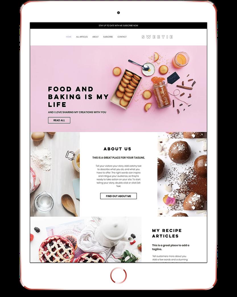 Sweetie Website Design Blog Wix Website Template Premade Feminine Website Wix Website Templates Blog Website Design Website Template Design