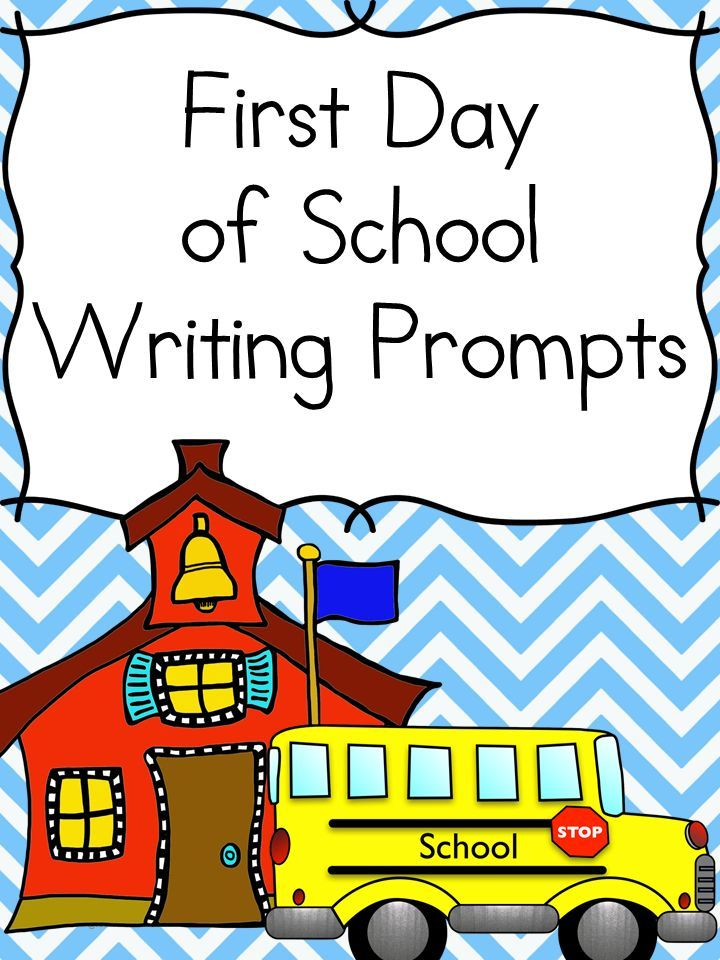 Photo of Back to School Writing Prompts for First Grade or Kindergarten….