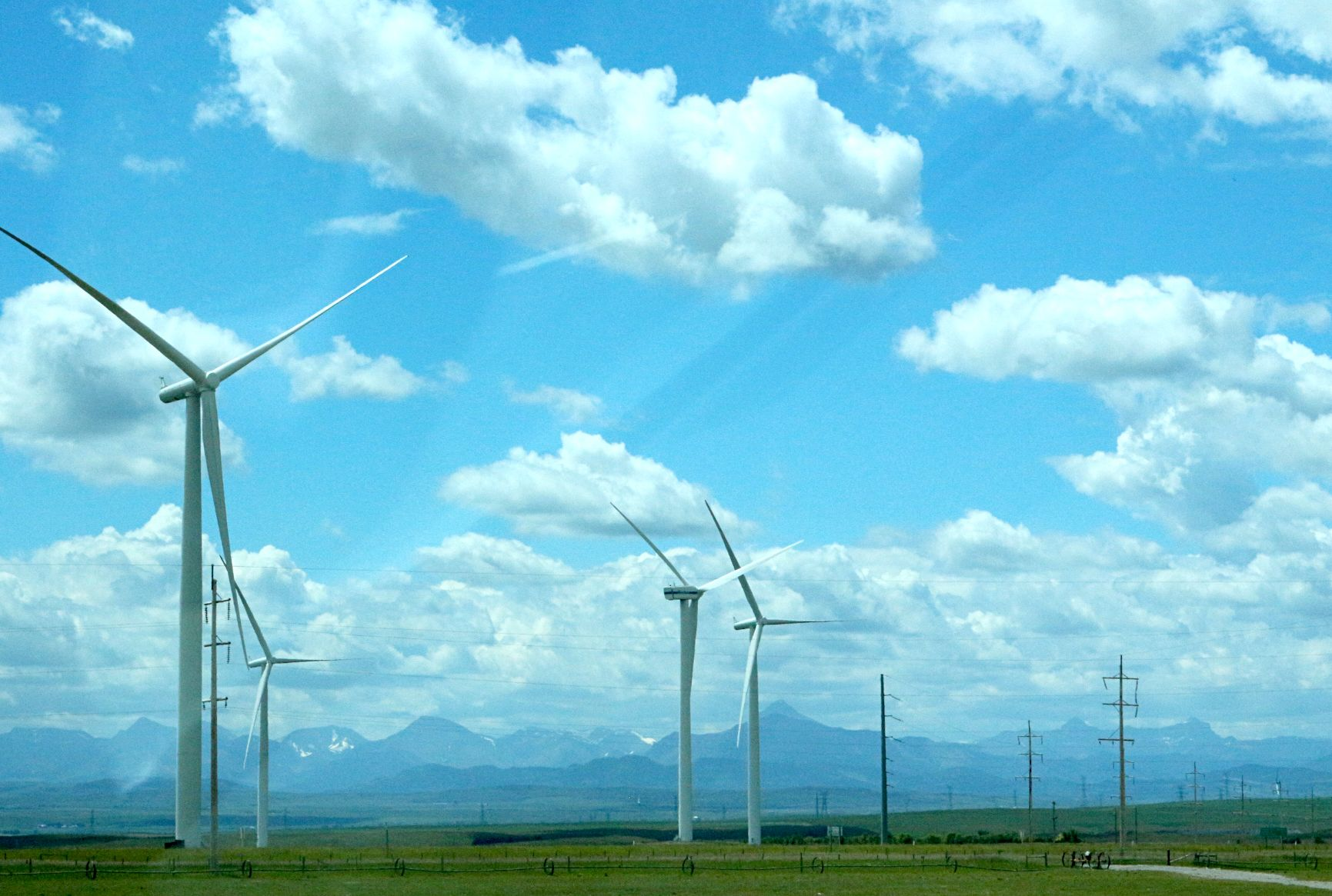 Wind Power Crowsnest Pass near Pincher Creek, Alberta