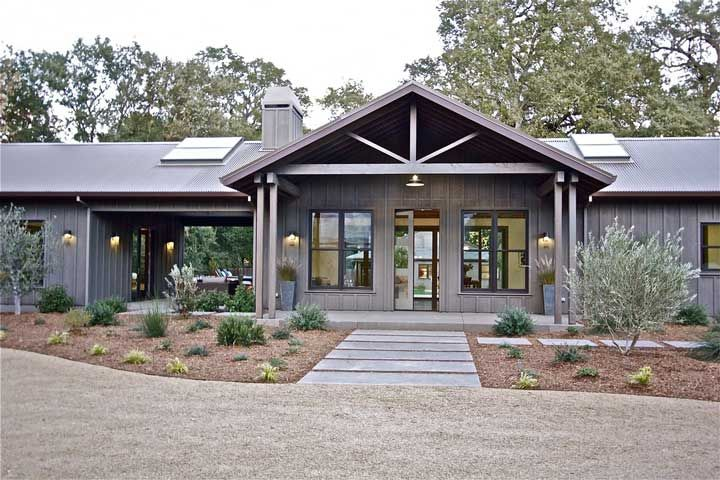 full metal building ranch home w breath taking interior plans available - Metal Home Designs