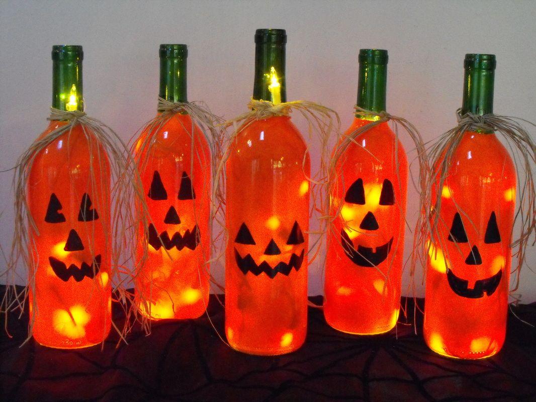 Lighted Bottles Halloween Wine Bottles Christmas Wine Bottles Halloween Wine