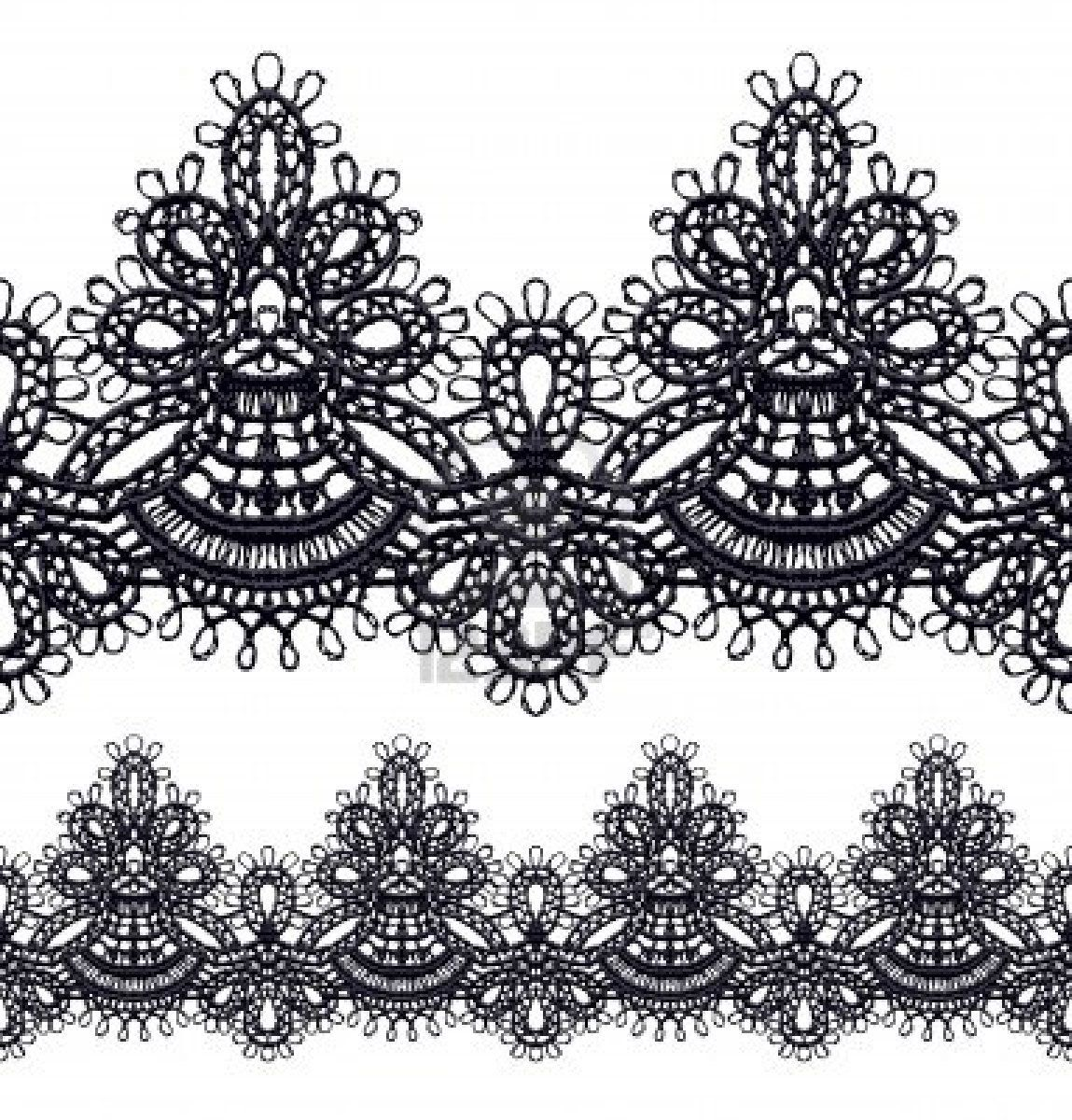 lace border drawing - photo #2