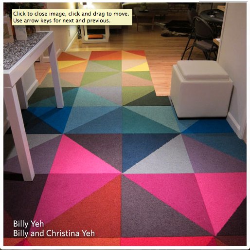 Modular Carpet Triangles Rugs For Lounge Area And Game Room
