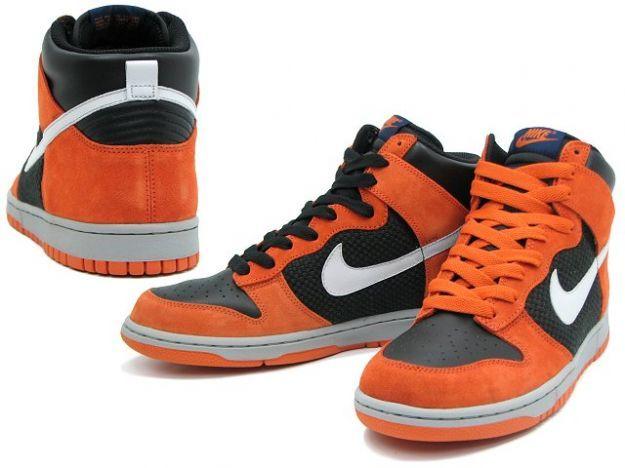 online store e6b3c f7382 Nike Dunk High (Black Neutral, Grey-Hoop Orange)