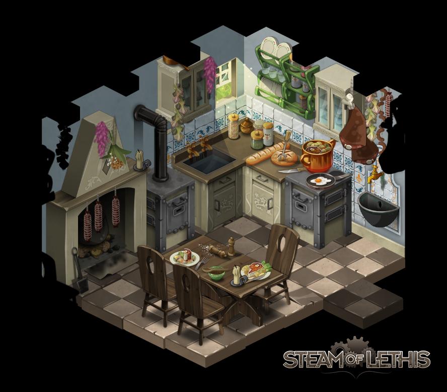 Kitchen By Steam-of-Lethis.deviantart.com On @deviantART