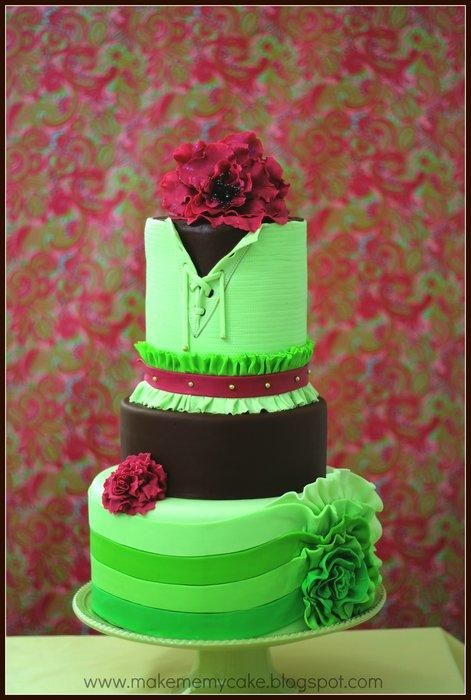 Sarah Ruffle corset Cake - Cake by Makememycake