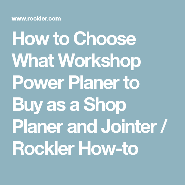 Power Planer Vs Jointer Some Planers Also Function As Jointers Planers Power Planer