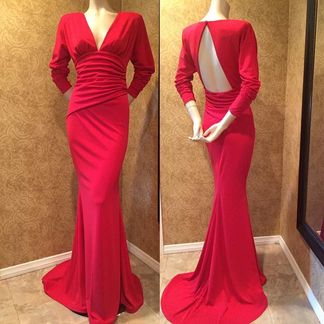 Red carpet ready custom evening gown jack forrest couture