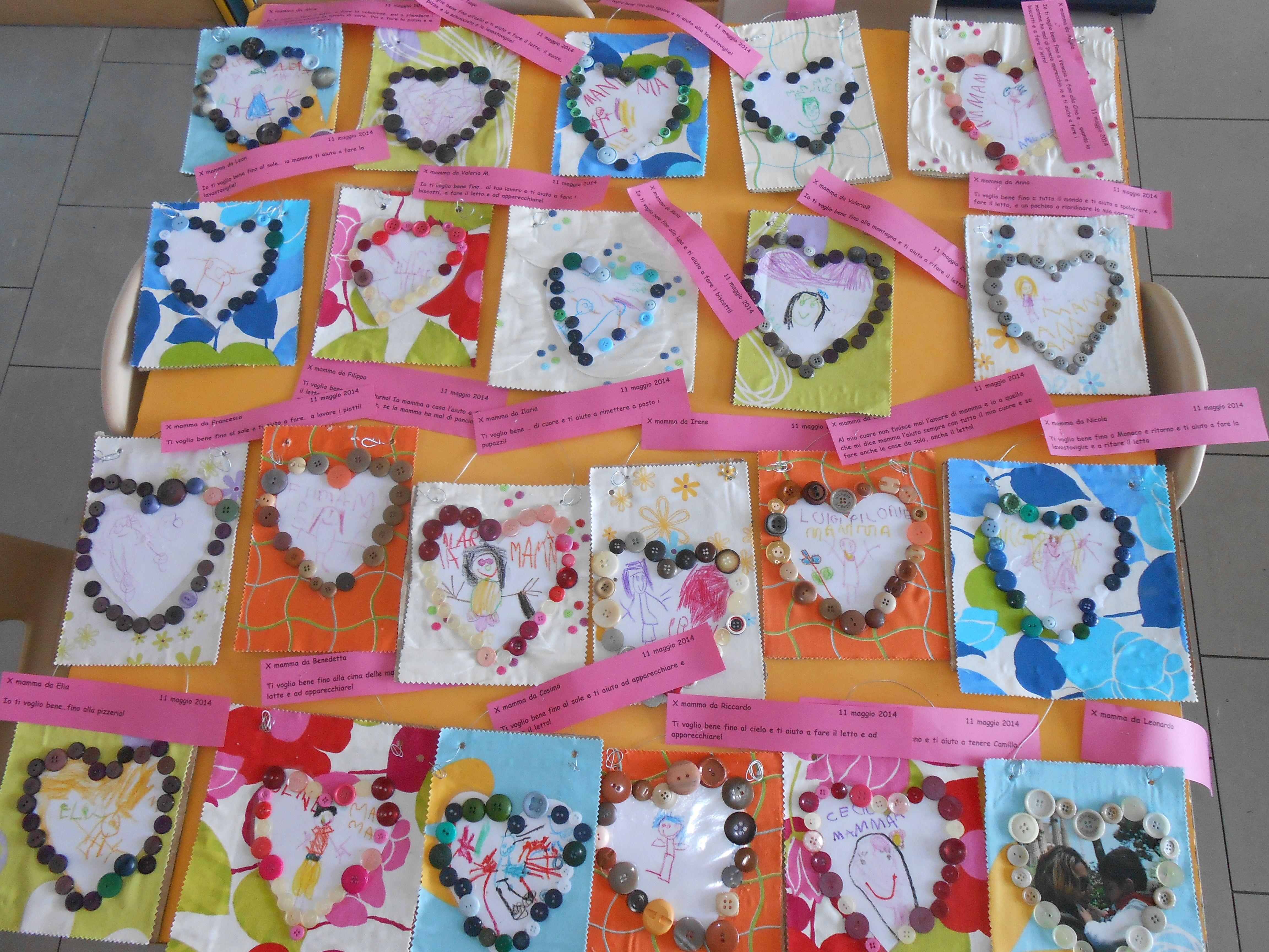 Cornici Bambini ~ Cornici per i ritratti delle mamme fatte dai bambini di 4 5 anni