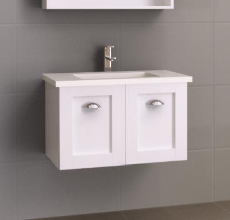 Astoria 750mm Wall Hung Vanity With Undercounter Basin Vanities Storage Bathware Direct Wall Hung Vanity Bathroom Vanity Storage Vanity Storage