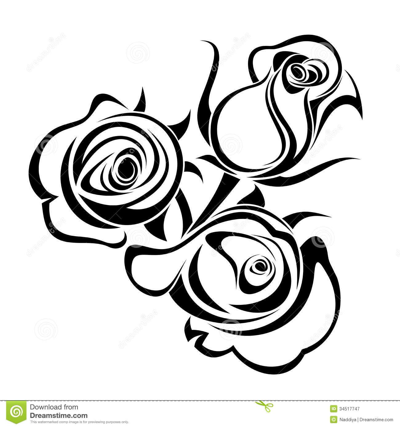 Rose Bouquet Clip Art Black And White Rose Buds Black Silhouettes Black Silhouette Rose Buds Silhouette Photos