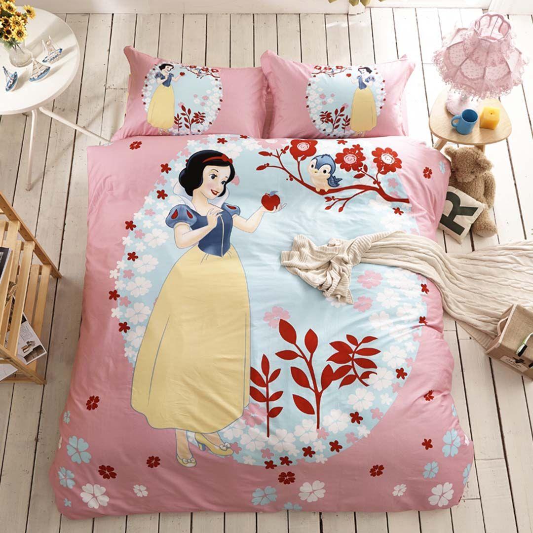 Snow White Bedding Set 100 Cotton White Bed Set Disney Bedding