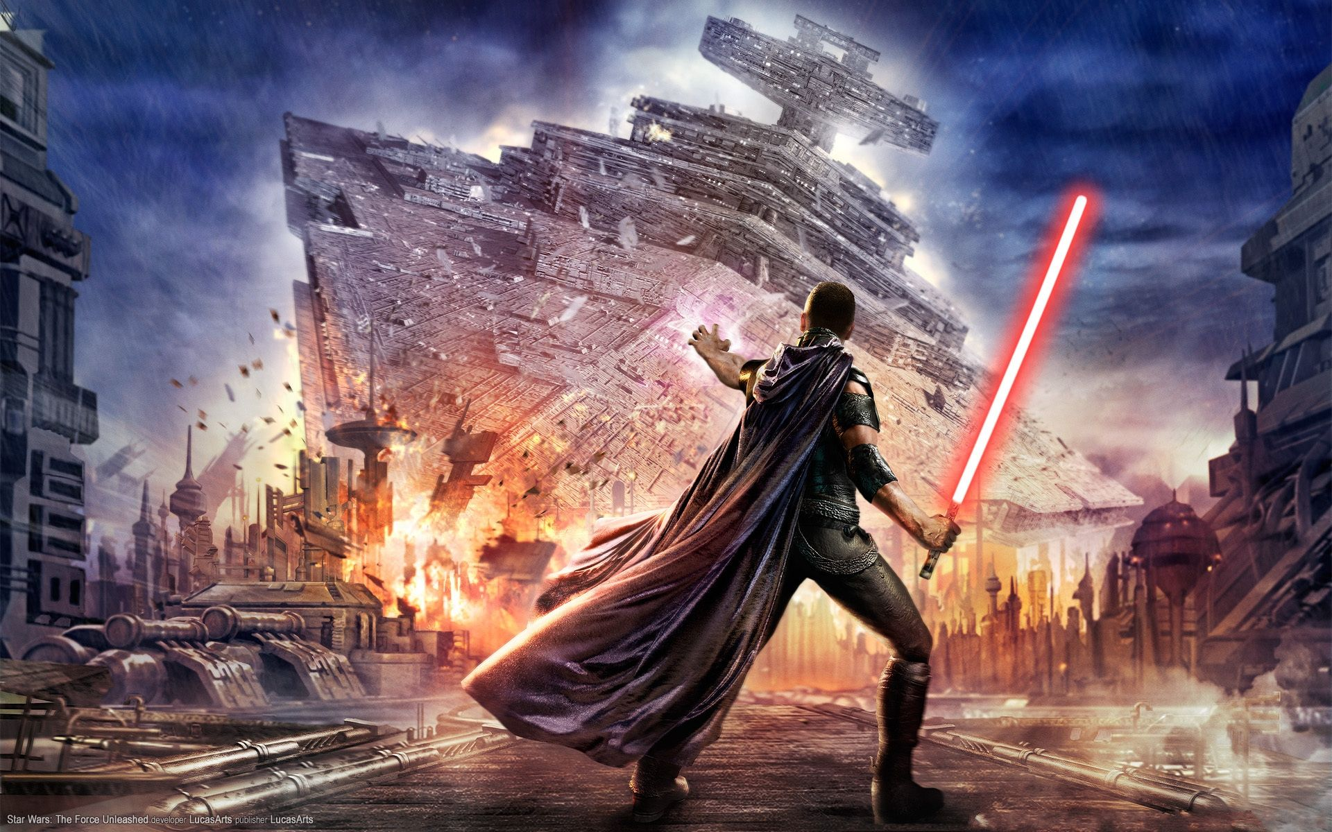 Star Wars The Force Unleashed Wallpaper Star Wars Games Star Wars Poster Star Wars Wallpaper