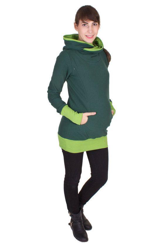 Breastfeeding hoodie, nursing sweater, kangaroo hoody, maternity clothing,  pregnancy fashion, baby