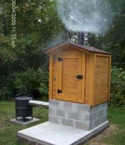 DIY wood smoker | Smokehouse, Backyard, Outdoor smoker