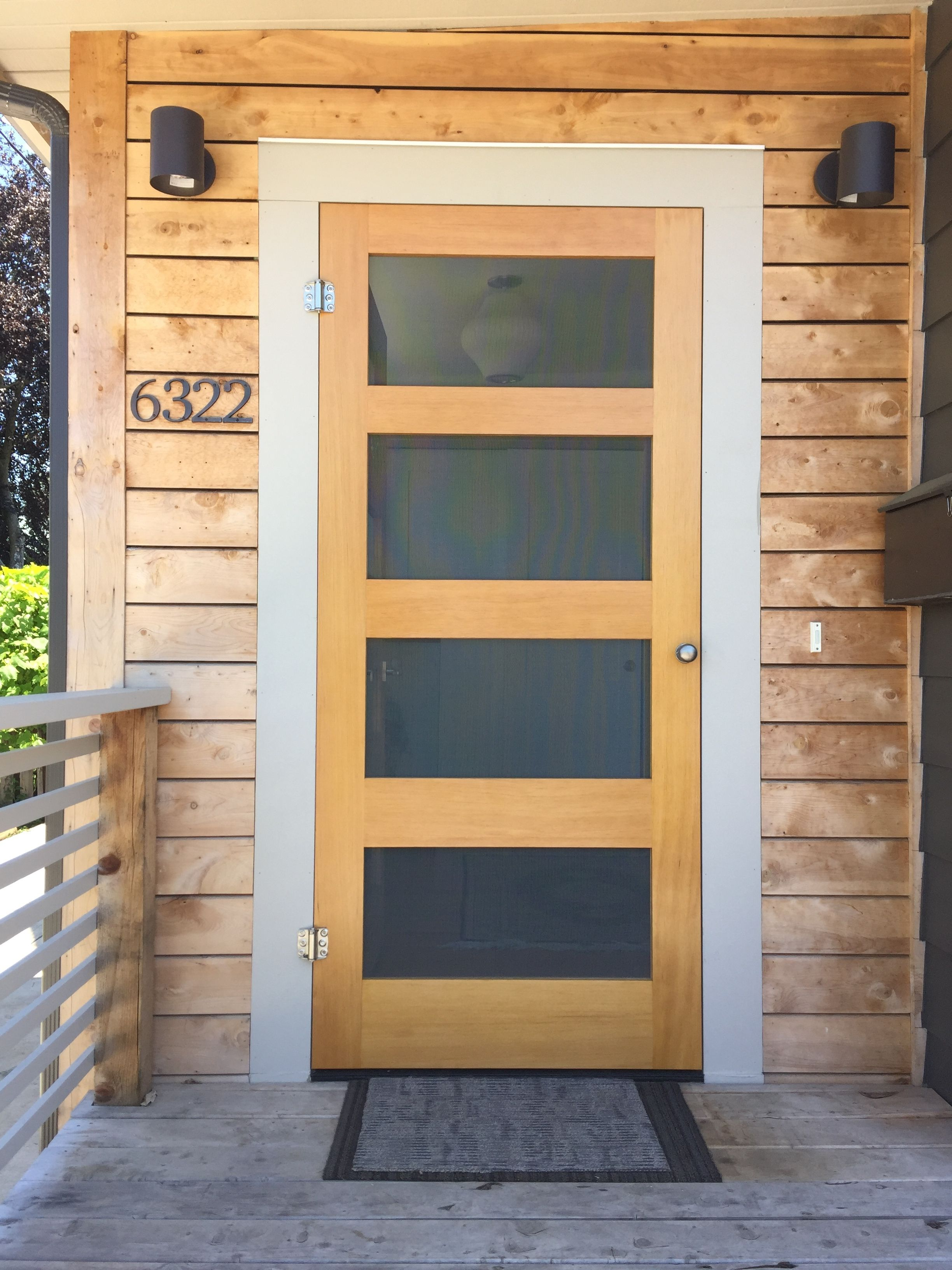 20 Best Modern Door Designs From Wood: Diy Screen Door, Front Door With