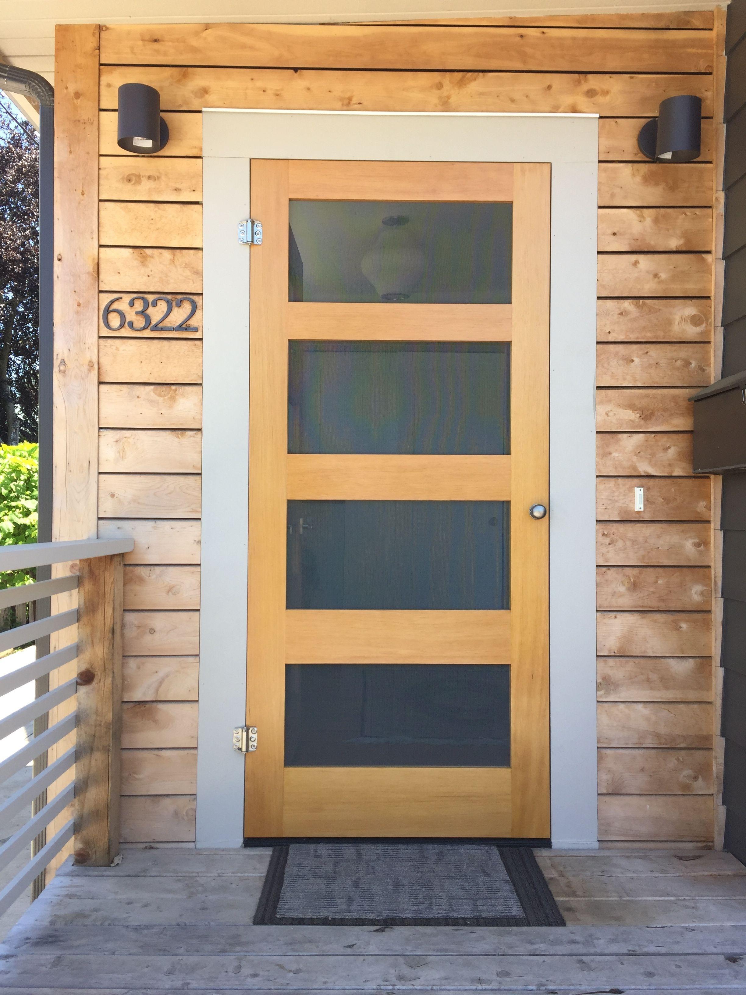 Modern Screen Door Made In Bobland Diy Screen Door Front Door