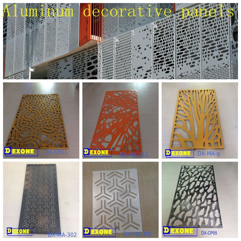 Metal Decorative Perforated Screen Metal Room Divider Garden