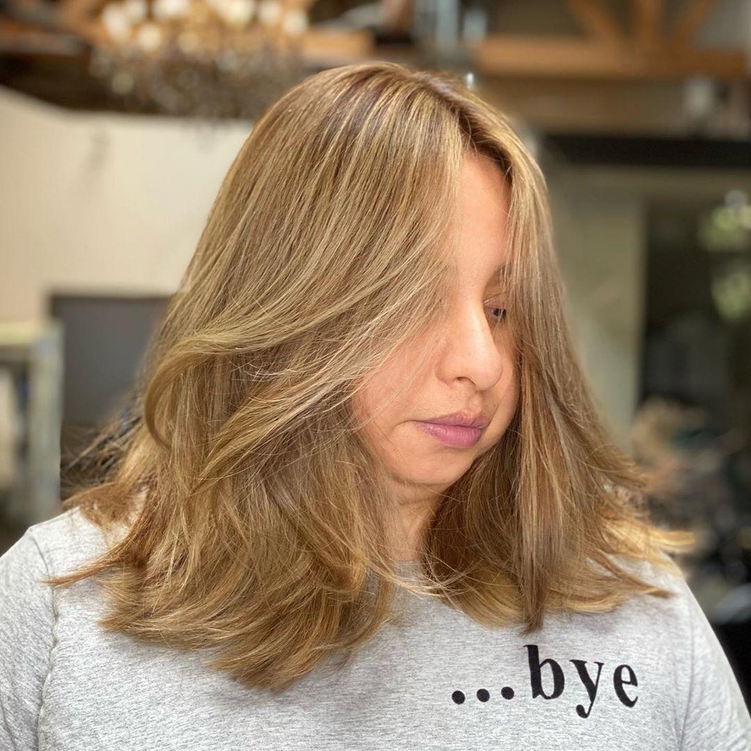 Hair glam by @kevuunskee_20 #balayage #hair #haircolor #trussprofessional #mac #sephora #hairgoals #hairideas #highlightshair #ombrehair #losangeles #hollywood #beauty #haircolorist #blondehair #livedincolor