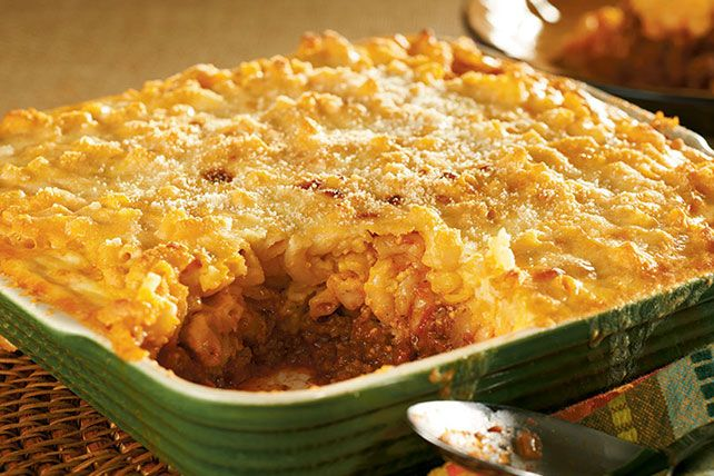 Photo of Our classic cheesy beef and pasta bake is a family-pleaser. …