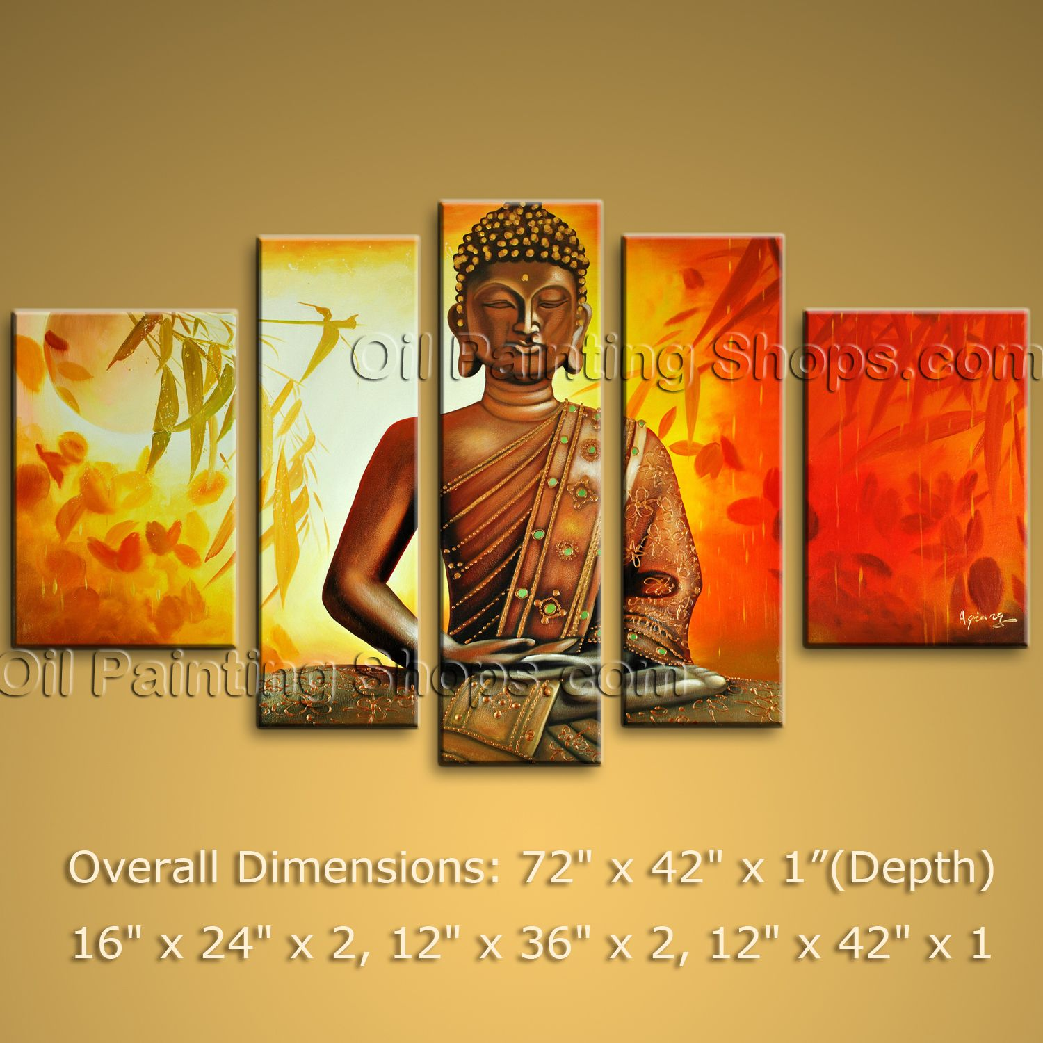 Oversized Abstract Zen Feng Shui Oil Painting Canvas Wall Art Home ...