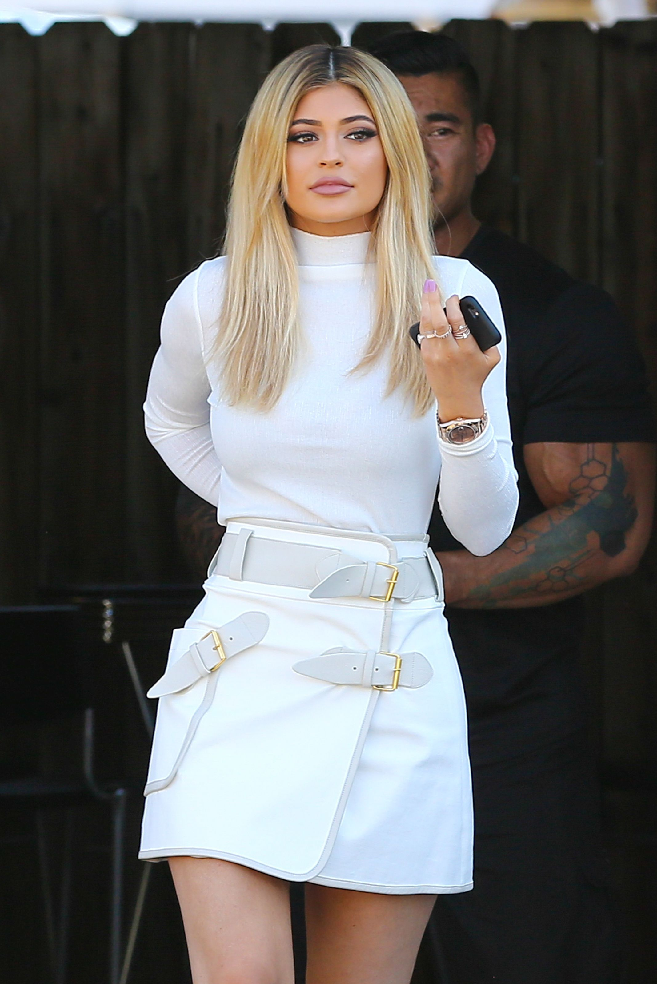 Kylie Jenner Sports All White Outfit After Labor Day