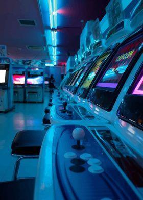 Metal Poster Retro Arcade Machine