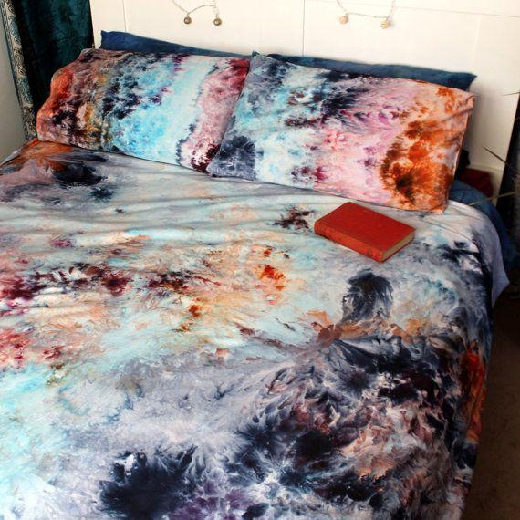 Sale Handmade Bedding Tie Dye Duvet Cover Set Hippie Tie Dye
