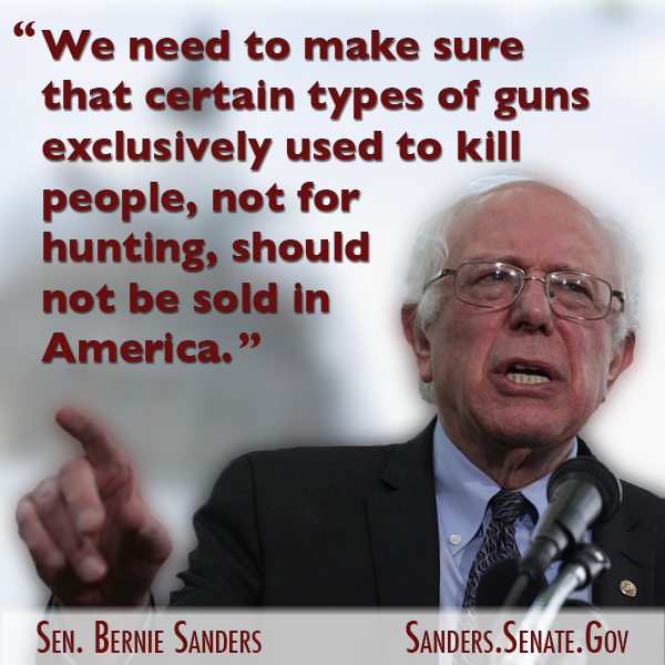 Quotes On Gun Control Fair Better World Quotes  Bernie Sanders On Gun Control  Humanity
