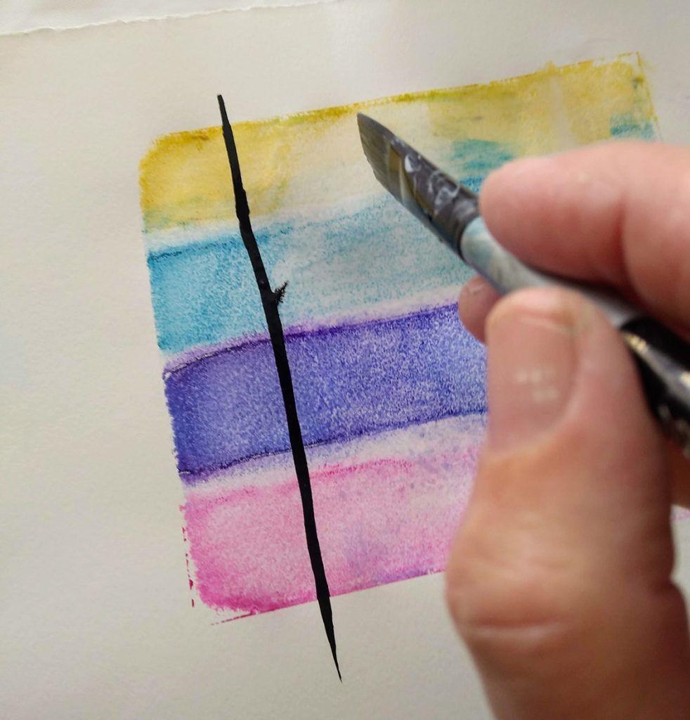 Colorful Watercolor Screen Printing Screen Printing Prints
