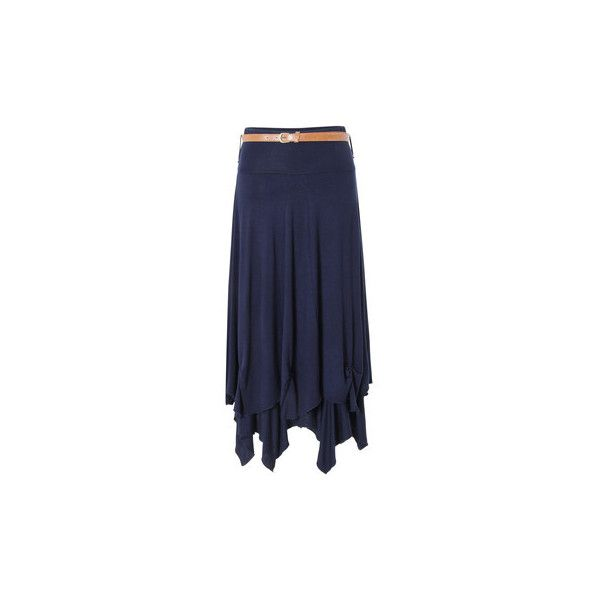 Krisp Womens Long Maxi Skirt Jersey Belted Hitched Up Gypsy Vintage... ($24) ❤ liked on Polyvore featuring skirts, blue, women, blue maxi skirt, vintage maxi skirt, long jersey skirt, maxi skirt and blue skirt