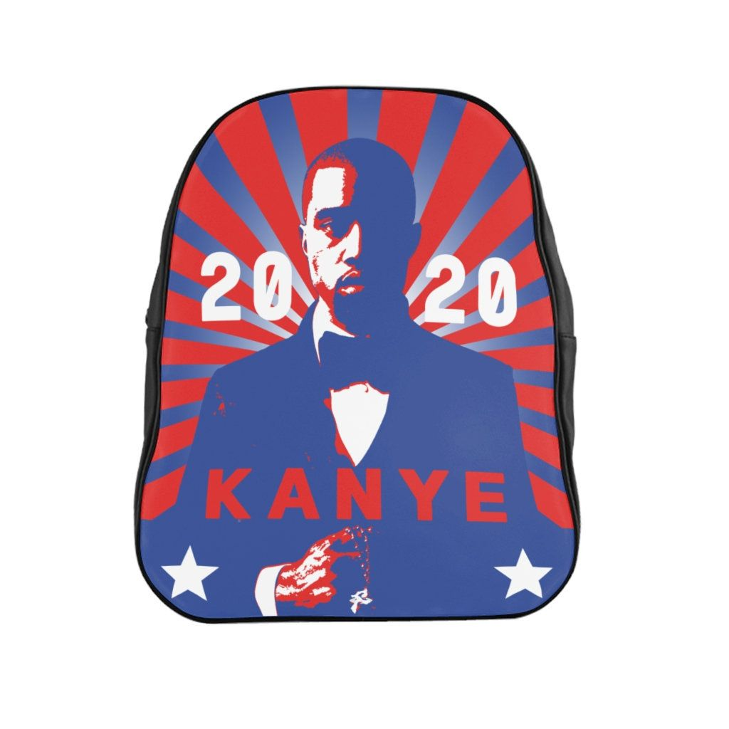 Kanye West For President 2020 Red And Blue School Backpack For Just 44 06 Get 30 Of With 3 Items Code 30 Off When You In 2020 Red And Blue School Bags Kanye West