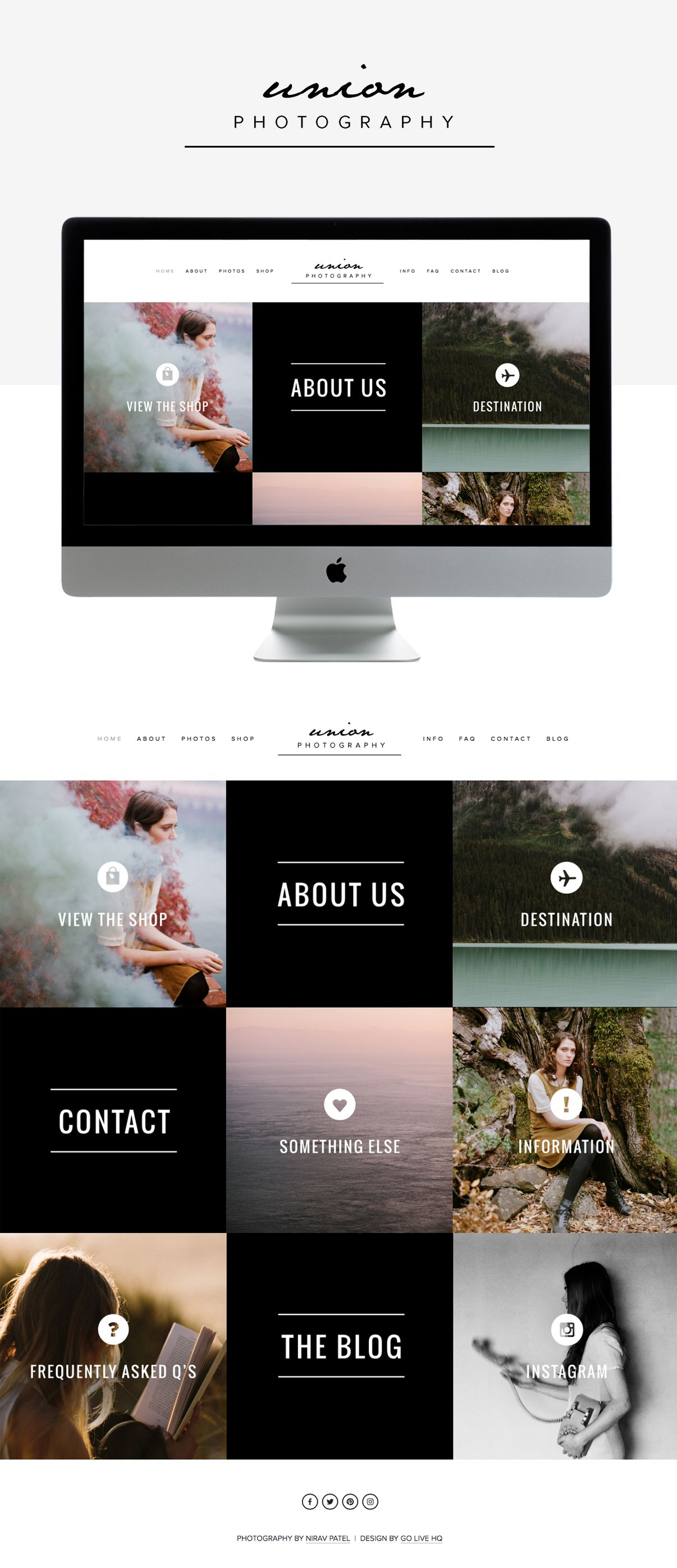 Modern Masculine Website Design By Go Live Hq Squarespace Website Templates Squarespace Templates Squarespace Website
