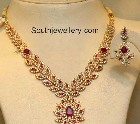 cz ruby necklace