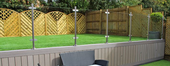 Image result for glass outdoor.fencing uk Patio fence