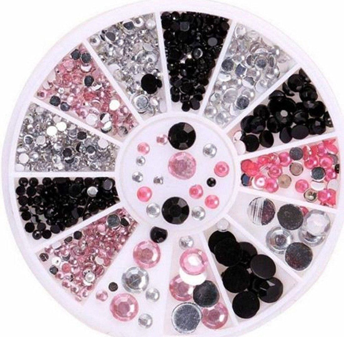 1 Set Significant Popular 3D Acrylic Rhinestones Nail Art Wheels Primer Tool Decorations Fashion Tips Pattern Style -35 *** You can find out more details at the link of the image.