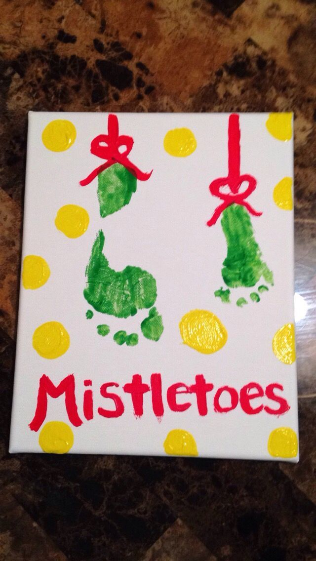 diy mistletoes baby footprint Christmas crafts #mistletoesfootprintcraft