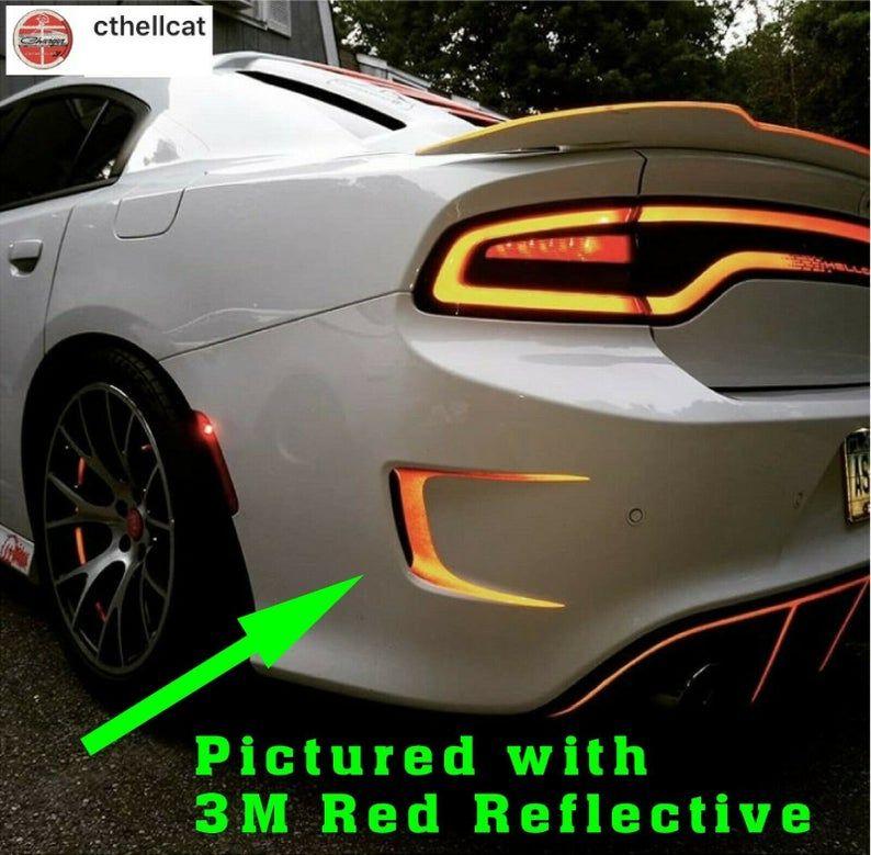 Reflective Rear Bumper Vent Decal For Dodge Charger Hellcat 392 Scat Pack 2015 2019 Dodge Charger Dodge Charger Hellcat Dodge
