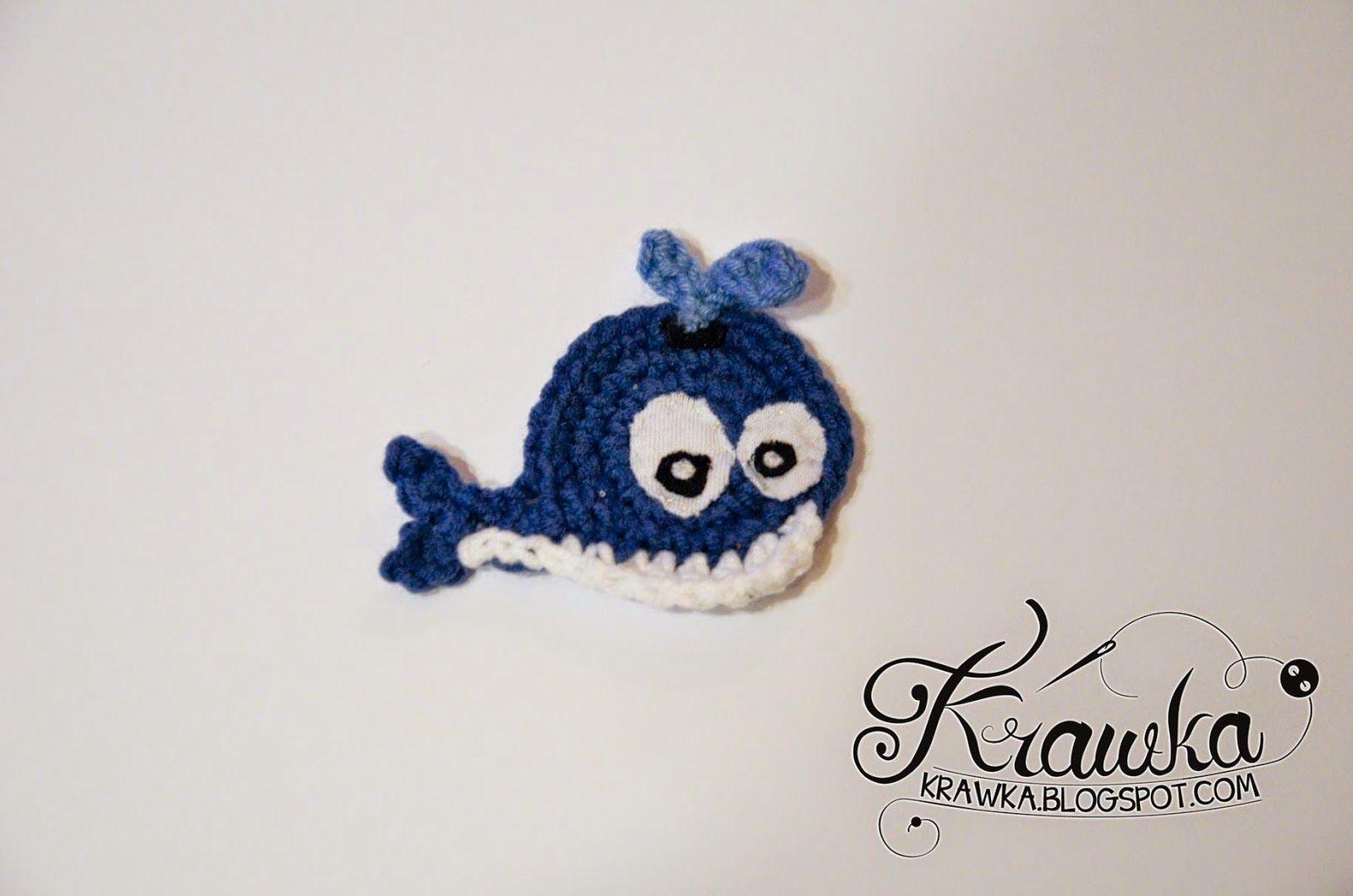 Krawka: Whale applique - free pattern | miniaturas | Pinterest ...